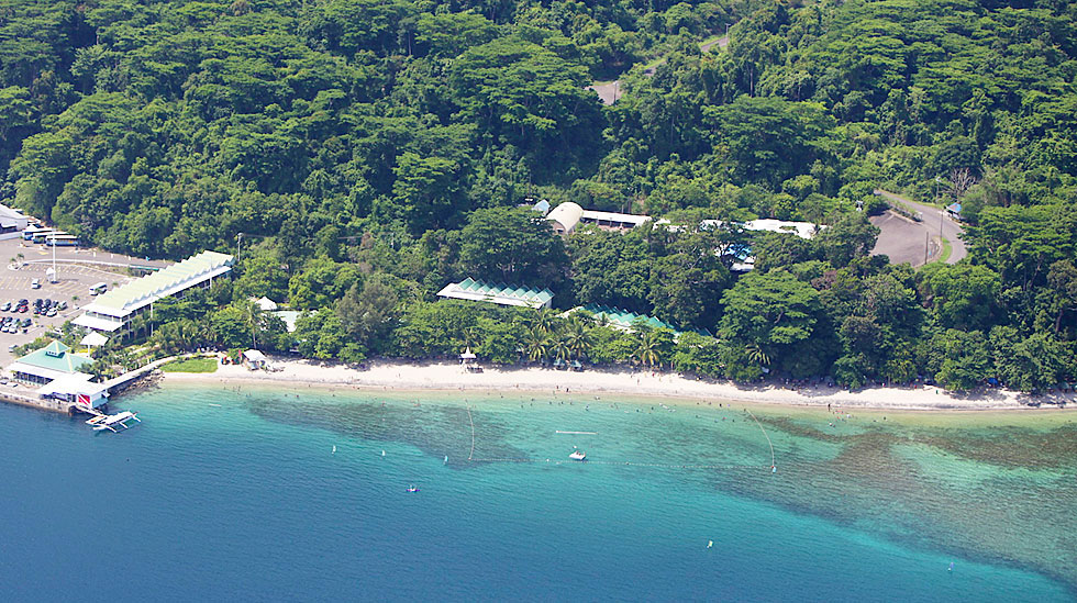 camayan beach resort aerial view