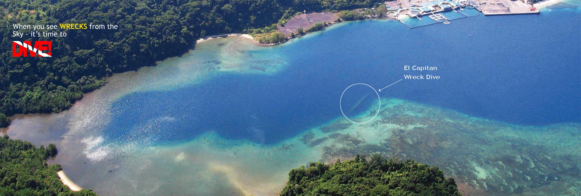 subic bay aerial view wreck dive